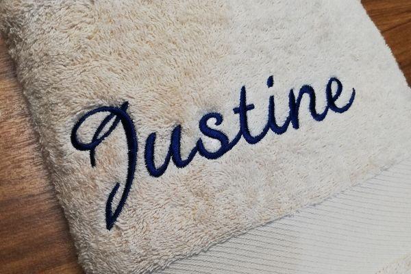 BROD Art- linge de maison brodé personnalisé - broderie sur mesure -broderie sur textile-entreprise-particulier-isere