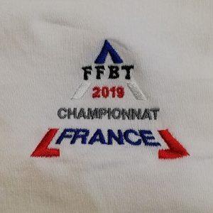 Brod art - vetement brodé personnalisé - sport association - championnat FFBT