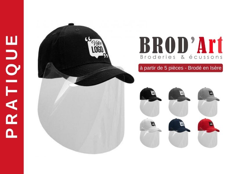 BROD-ART-Casquette-avec-visière-de-protection personnalisable