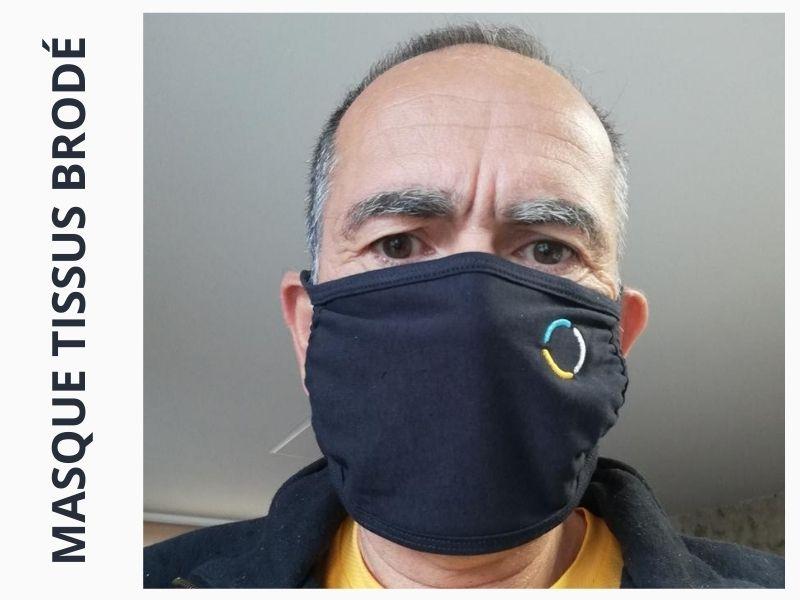 BROD ART - masque triple épaisseur brodé