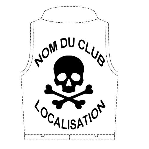 patch dorsal biker personnalisé-emplacement